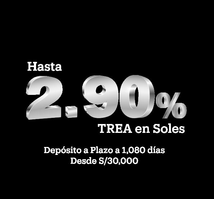 Depósito a Plazo de hasta %2.9