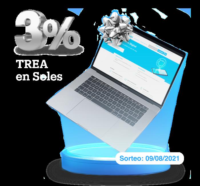 Imagen del cerdito del ahorro 3% de TREA para la cuenta digital