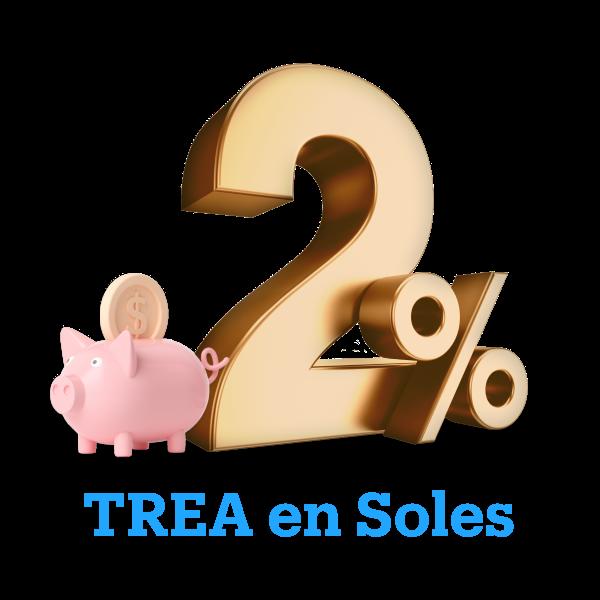 imagen de la tasa de 2% TREA en Soles